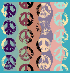 abstract background with peace signs the sign of vector image