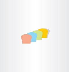 Abstract colorful bread logo vector