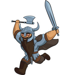 Angry viking warrior vector
