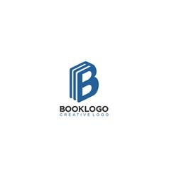 B book logo creative book logo vector