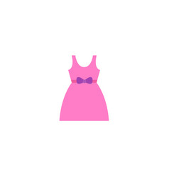 baby dress icon flat element vector image