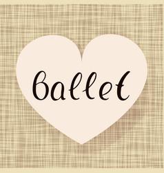 Ballet dance vector