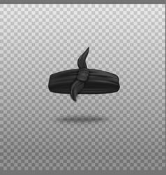 Black bandana as bandage with knot realistic vector