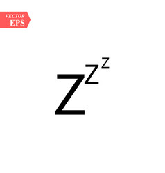 Black zzz paper origami snoring sign concept of vector