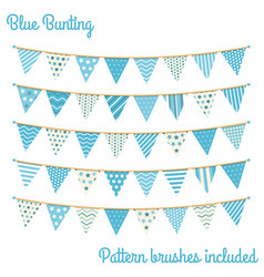 Blue bunting vector