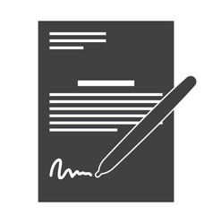 business contract and pen vector image