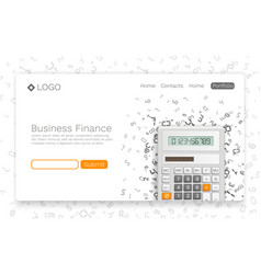Business finance banner info cover vector