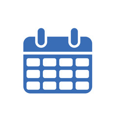 Calendar icon - event symbol - day or month icon vector