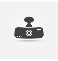 Car digital video recorder icon vector