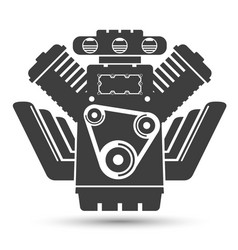 Car powerful engine black symbol vector