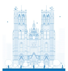 Cathedral of St Michael and St Gudula vector