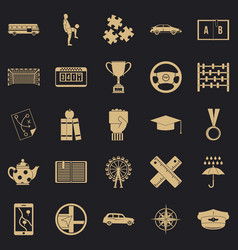 Charabanc icons set simple style vector