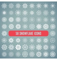 Collection of elegante stylish snowflakes isolated vector image