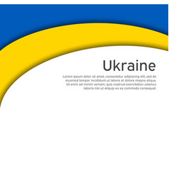 Cover banner in state colors ukraine abstract vector