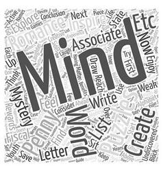 Creating Your Own Mind Puzzles Word Cloud Concept vector image