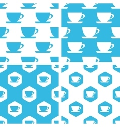 Cup patterns set vector