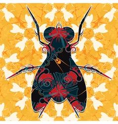 decorative bug vector image