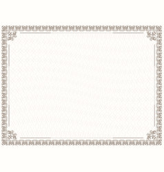 design border for diploma and certificate vector image