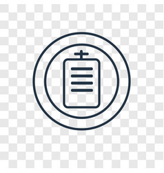 document concept linear icon isolated on vector image