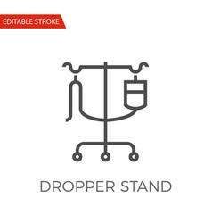 Dropper stand icon vector