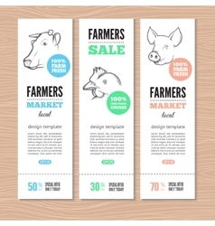 Farm vertical banners vector