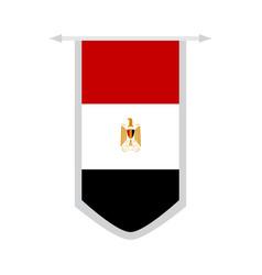 Flag of egypt on a banner vector