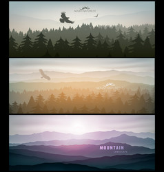 forest and mountains banner for facebook vector image