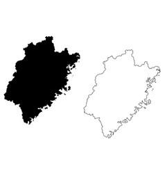 fujian province map vector image
