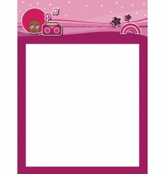 Funky pink header vector