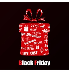 Gift box on Black Friday vector image