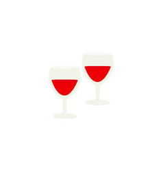 glasses for the wine icons in color vector image
