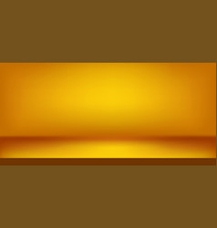 Gold scene background realistic decorations vector