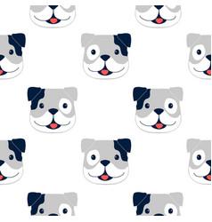hand drawing bulldog seamless pattern vector image