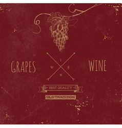 Hand drawn grunge wine background vector