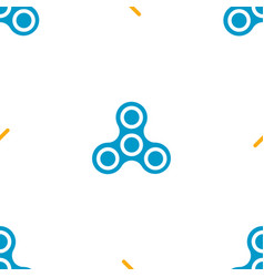 hand spinners icons seamless pattern vector image