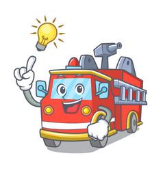 have an idea fire truck mascot cartoon vector image