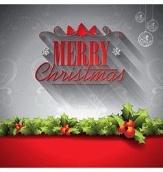 Holiday design on a Christmas theme vector image