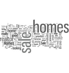 How to locate and assess homes for sale vector
