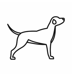 Hunting dog icon outline style vector image