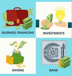 investment money design concept vector image