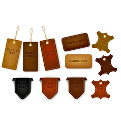 Leather labels and tags vector