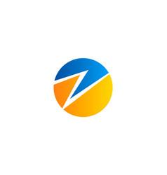 letter z round logo vector image