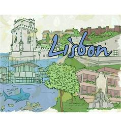 Lisbon doodles vector