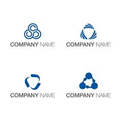 Logo triangle concept vector