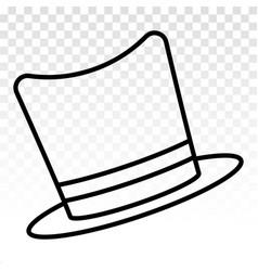 Magic top hat or magician costumes - line art vector