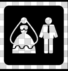 marriage persons rounded square vector image