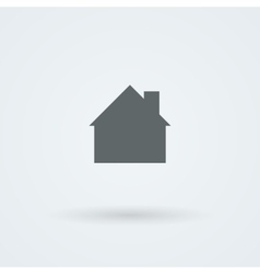 Mono icon with the image of the house the cottage vector image