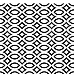 Monochrome seamless pattern black white mosaic vector