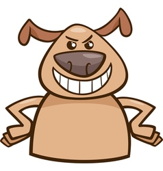 mood cruel dog cartoon vector image