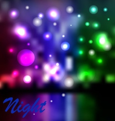 Night background vector image